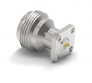 China 18GHz, N Type Jack(Female) Straight Connector, 4-Hole Flange(12.7mm*12.7mm), Stainless steel on sale