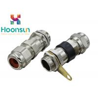Nickel Plated Brass BDM Explosion Proof Cable Gland , GRP Metal Cable Gland