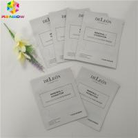 Aluminum Foil Plastic Cosmetic Packaging Bag Facial Packing 3 Sides Seal Mask Packet