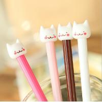 customized yiwu stationery cat plastic ball-point pen office&school beautiful cheap funny pen
