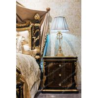 China Table French Antique Country Style Bed Tablet Stand Bedside Table Gold Luxury Furniture Liquor Cabinet on sale