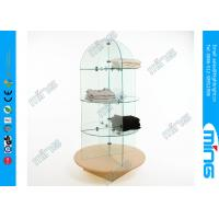 China Retail Shop ECO Glass Display Counter with 30 inch Diameter , Bullet Style on sale