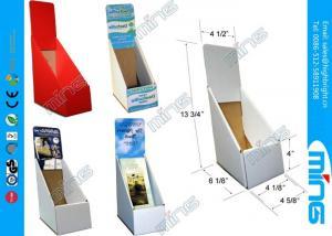 cmyk green cardboard display stands glossy lamination tri fold book display