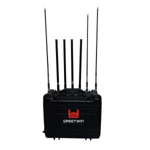 China Backpack Mobile Network Jammer 90W With High Gain Omni Directional Antennas on sale