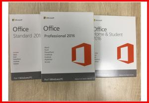 China Word Excel PowerPoint Microsoft Office 2016 Professional Retailbox English Version on sale