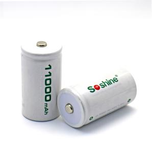 China Soshine D/R20 Size Rechargeable Batteries NiMH 11000mAh on sale