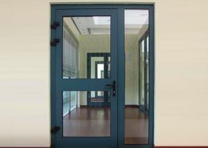 China Heat Insulation Commercial Aluminium Doors Casement Door Construction Easy Install / Clean on sale