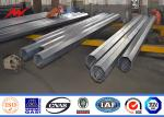 Bitumen tapered electrical transmission pole 35FT 3mm Thick Hot Dip Galvanized Electric Steel Pole
