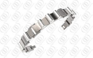 China Silver Fashion Jewelry 8.5 Ti2 Titanium Bracelets For Men on sale