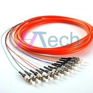 China ST 12 Cores Fiber Optic Pigtail,Orange Color, Multimode Fiber Optic Cable on sale
