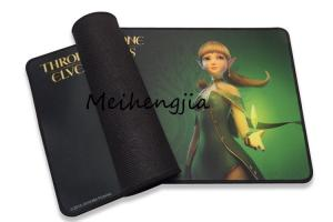 China Promotional Rubber Mouse Pad Double Weave Cloth Surface With Durable Stitched Edges on sale