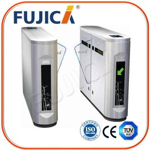 China Automatic Access Control Flap Barrier Turnstile With Rfid Card on sale