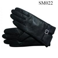China Men sheep leather gloves high quality SM022 men warm gloves on sale