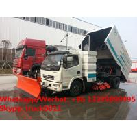 2018s new  factory price dongfeng 130hp diesel road sweeping cleaning truck, street sweeper vacuum sweeping vehicle
