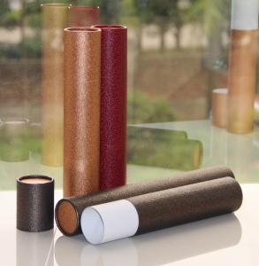 China Classical Leather Surface Cardboard Paper Cans Packaging with SGS Certification on sale