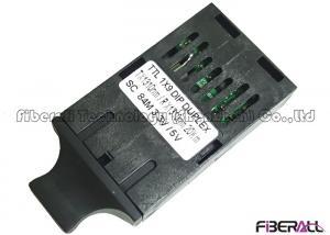 China 84Mbps TTL 1x9 DIP SC Dual Fiber Optic Transceiver 5V Power Supply on sale