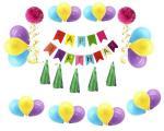 Amazon  hot sell Foil helium balloon with latex confetti balloon