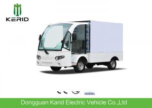 China Practical Electric Cargo Van Bus With Enclosed Loading Box / Food Or Goods Electric Delivery Vehicles on sale