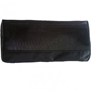 China Black Travel Cosmetic Bags , Small Nylon Zipper Pouch For Cosmetic And Coin on sale