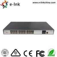China L3 Managed PoE Switch POE Fiber Media Converter 24 Port 10 / 100 / 1000 Base -T on sale