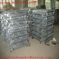 high quality folding storage cage/security cage/pallet cage/wire security cage/storage cage on wheels/cage storage
