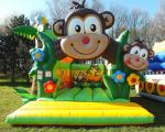 Tropical safari theme kids inflatable park commercial monkey bouncy castle chateaux gonflables