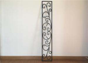 China Custom Wrought Iron Entry Doors Thickness 30 Mm S509 Type Iron Mosaic Glass on sale