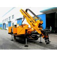 Long Feeding Stroke Engineering Drilling Rig , Full Hydraulic Crawler Drilling rig