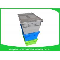 China Durable Turnover Logistics Opaque Plastic Storage Boxes With Lid for foods on sale