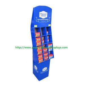 China Голубые стойки дисплея картона решетки для батареи/электронных продуктов on sale