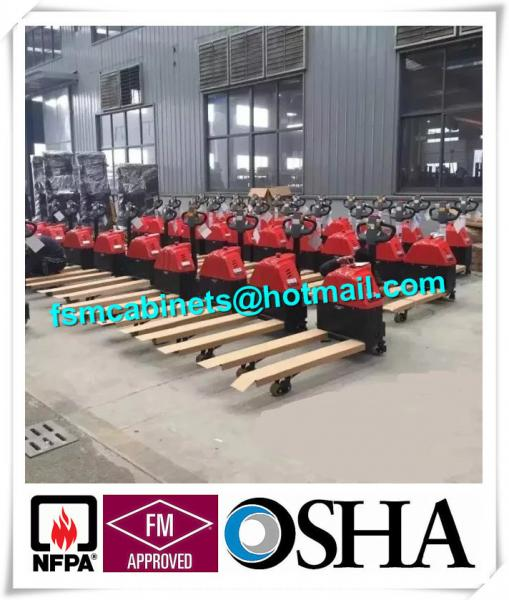 Manual Jack Hand Hydraulic Pallet Truck Trolley , Drum Storage Cabinet Used  Jacking Trolley Images