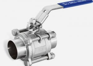 China Two Way SS Ball Valve Sanitary Grade 1\ X0.065 Welded Ends , ISO9001 Approved on sale