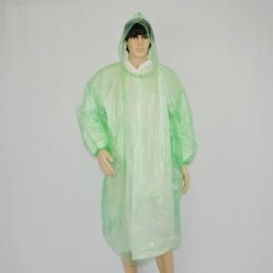 China Single Use Disposable Pe Apron Raincoat Long Sleeve Waterproof / Windproof on sale