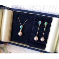 Akoya Pearl Fine Gemstone Jewelry , 18K Gold Gemstone Jewelry Sets With Diamond