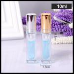 Square Perfume Essential Oil Spray Bottles Anodized Aluminum Spray Cover 10ml