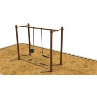 China H Shape Outside Swing Sets For Children , Small Swing Sets For Kids on sale