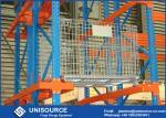 Cinc bloqueable de la jaula grande industrial del alambre de acero cubierto para el sistema del tormento del almacenamiento