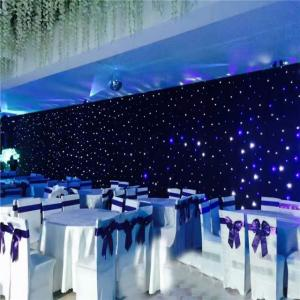 China Indoor and Outdoor led curtain led light black curtain Star cloth lighting for sale on sale