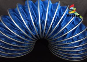 China Prueba da alta temperatura de la llama del PVC del conducto de la flexión de la HVAC de 125m m respetuosa del medio ambiente on sale