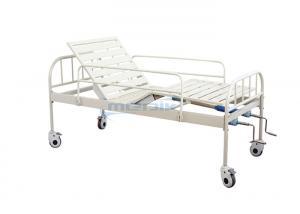 China YA-M2-5 Manual Hospital Bed With Epoxy Coated Steel Side Rails on sale