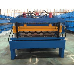 China Hydraulic Cutting Steel Roofing Tile Roll Forming Machine With Chain Drive 2-4m/Min on sale