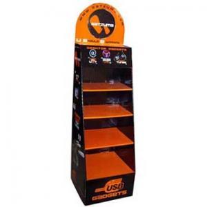 China Black Corrugated paper Cardboard Floor Displays Innovative Shelf pdq for retailing on sale