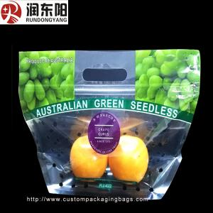 China Customized Logo Clear Plastic Packaging Bags Moisture Proof With Holes Slider on sale