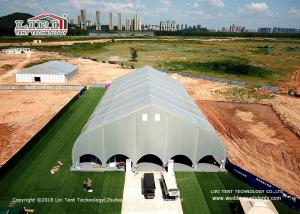 China Large Aluminium PVC Indoor Sport Event Tents Curved Shape Structure on sale