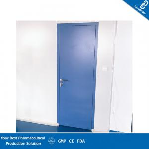 China Chemical Resistance Pharmaceutical Clean Room Door With Powder Coated Surface on sale