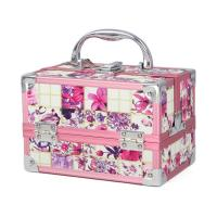 Beautiful Aluminum Vanity Case Double Open Pink Makeup Case