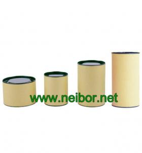 China brown color kraft paper tube can box with tin lid and bottom for tea packaging on sale