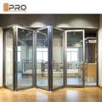 Modern Design Aluminium Folding Stacking Doors For Residential House Vertical bifold door double glazed bifold door