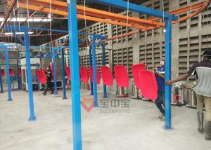 China Metal Factory Power Coating line + Oven with Trolley Supporting Frame on sale