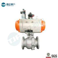 WCB   Flanged Connection  Ball Valve for Petrol Chemical Valve with Penumatic Operation